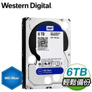 WD 威騰 6TB 3.5吋 5400轉 64MB快取 SATA3 藍標硬碟(WD60EZRZ)