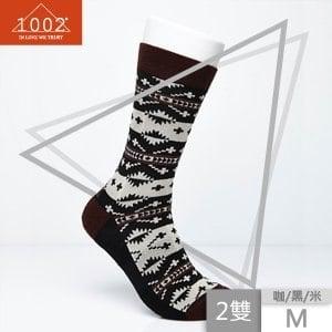 【1002】精梳棉十字提花長襪(2雙/M)