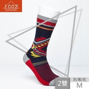 【1002】精梳棉幾何圖形條紋長襪(2雙/M)