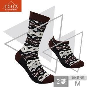 【1002】精梳棉十字提花長襪+短襪(M)
