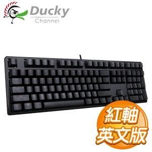 Ducky 創傑 One 紅軸 英文 無背光 黑蓋 橘字 機械式鍵盤