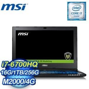 MSI 微星 WS60 6QJ-075TW-BB7670H16G1T0DX10 筆記型電腦