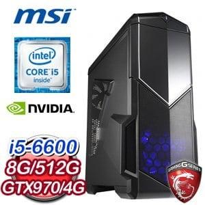 微星 H170 平台【天命裂片】Intel Core i5-6600 16G 512G SSD GTX970 4G電競遊戲主機
