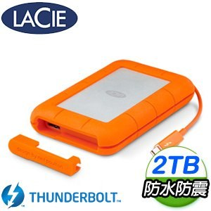 LaCie Rugged 2TB USB3.0 / Thunderbolt雙介面2.5吋行動硬碟