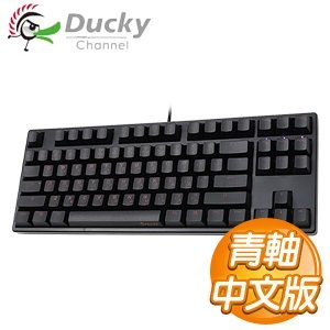 Ducky 創傑 One 80% 青軸 中文 黑蓋 橘字 機械式鍵盤