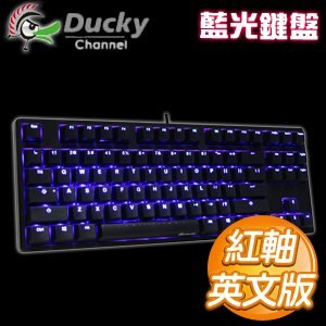Ducky 創傑 One 80% 紅軸 英文 藍光 黑蓋 機械式鍵盤