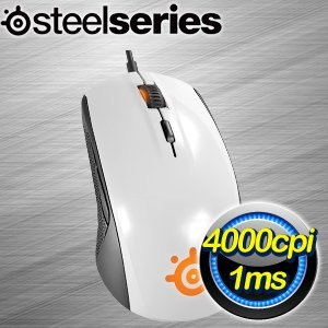 SteelSeries RIVAL 100 光學滑鼠《白》