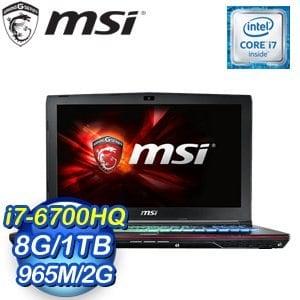 MSI 微星 GE62 6QE(Apache Pro)-252TW-BB7670H8G1T0S10MH 筆記型電腦