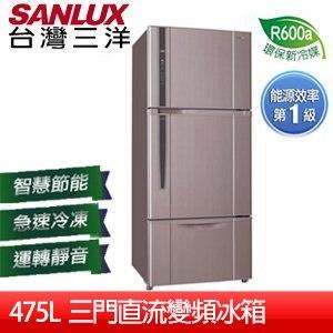 【台灣三洋 SANLUX】475L三門直流變頻冰箱(SR-B475CV)