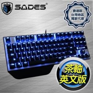 SADES 賽德斯 Karambit 狼爪刀 茶軸 英文 機械式鍵盤