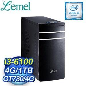 LEMEL 聯強【風雲俠客】i3-6100 GT730-4G 1TB桌上型電腦(LX3-FUB5610-4S1T73A)