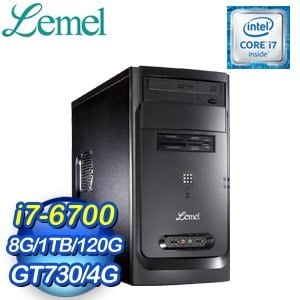 LEMEL 聯強【鈦金效能】i7-6700 GT730-4G SSD+1TB桌上型電腦(LM3-GOH7670-8S1173A)