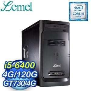 LEMEL 聯強【極速效能】i5-6400 GT730-4G 120G SSD桌上型電腦(LM3-GOB5640-4S173A)