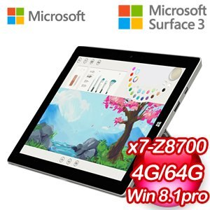 Microsoft Surface 3 64G 超強輕薄筆電