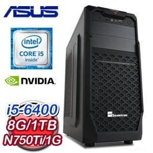 華碩 B150 平台【戰國魔神】Intel Core i5-6400 1TB N750TI 1G獨顯電玩機