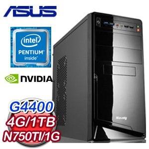 華碩 H110 平台【吉澤明步】Intel G4400 1TB GTX750Ti 1G獨顯電玩機