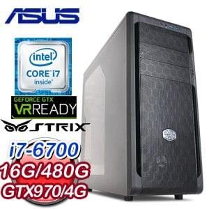 華碩 Z170 平台【霧裡看花】Intel Core i7-6700 480G SSD GTX970 4G獨顯虛擬實境電腦