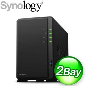 Synology 群暉 DiskStation DS216play 2Bay NAS 網路儲存伺服器
