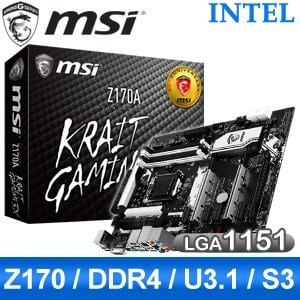 MSI 微星 Z170A KRAIT GAMING 3X LGA1151 主機板~ 註冊五