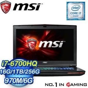 MSI 微星 GT72 6QD-881TW-BB7670H16G1T0DB10MH 筆記型電腦