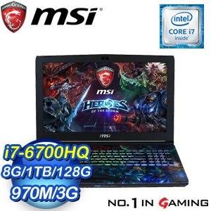 MSI 微星 GE62 6QF-083TW-BB7670H8G1T0DS10MH 筆記型電腦