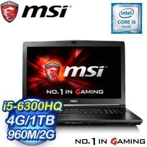 MSI 微星 GL72 6QF~485TW~BB5630H4G1T0S10M 筆記型電腦~