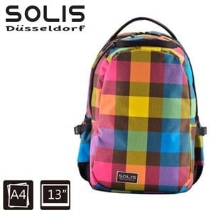 【SOLIS】基本款電腦後背包-Ultra+ 馬賽克系列-小-摩登粉(B0502018)