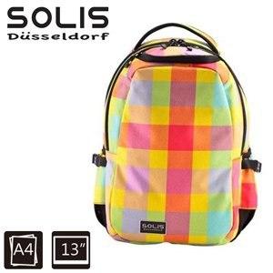 【SOLIS】基本款電腦後背包-Ultra+ 馬賽克系列-小-粉漾黃(B0502019)