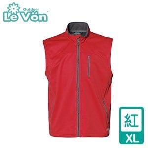 LeVon 男款防水透濕軟殼背心 LV5121(紅/XL)