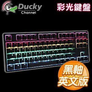 Ducky 創傑 One 80% RGB 黑軸 英文 黑蓋 機械式鍵盤