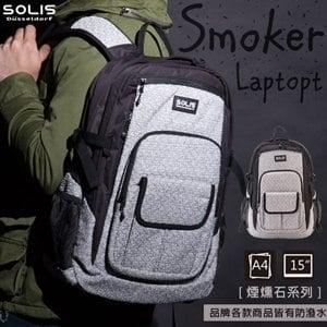 【SOLIS】電腦後背包昇華版-煙燻石系列 B25001《麻花白》
