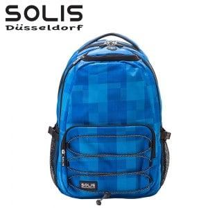 【SOLIS】抽繩款電腦後背包-魔幻秀系列 B02023-大《晴天藍》