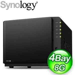 Synology 群暉 DiskStation DS916+(8GB) 4Bay 網路儲存伺服器