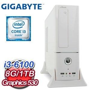 技嘉 H170 平台~捍衛戰神~Intel Core i3~6100 8G 1TB WIF
