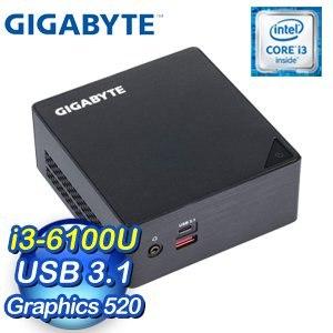 GIGABYTE 技嘉 BRIX GB-BSi3HA-6100 超微型電腦