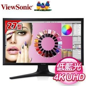 ViewSonic 優派 VP2780 27型 4K IPS零閃屏抗藍光寬螢幕