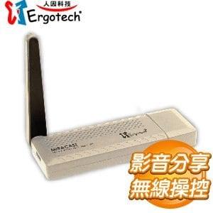 Ergotech 人因科技 MD3056DV 2.4G/5G 雙模無線影音分享棒