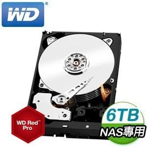 WD 威騰 Red Pro 6TB 3.5吋 128M快取 SATA3 旗艦紅標硬碟(WD6002FFWX)