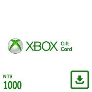 XBOX 禮物卡 $1000 數位下載版