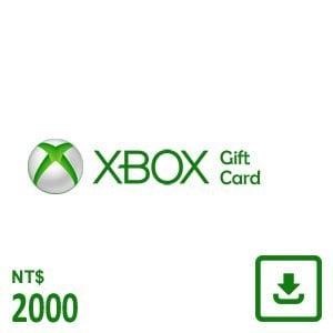 XBOX 禮物卡 $2000 數位下載版