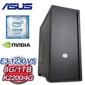 華碩 C232 平台【南竹幻菱】Intel Xeon E3-1230V5 8G 1TB K2200 4G 專業級獨顯電腦