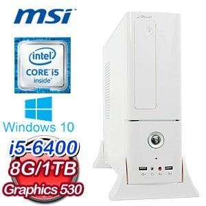 微星 H110 平台【思芹語夏】Intel Core i5-6400 8G 1TB 超值辦公室專用機《含WIN10》