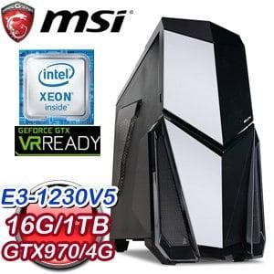 微星 C236 平台【薩克斯】Intel Xeon E3-1230 16G 1TB GTX970 VR虛擬實境機
