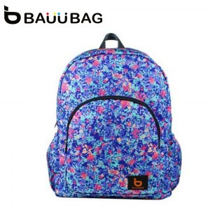 【BAUUBAG】菲朵FEIDO寶貝後背包-彩迷蝶季 B141031MA(藍)