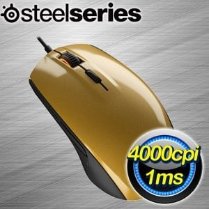 SteelSeries Rival 100 光學滑鼠《金》