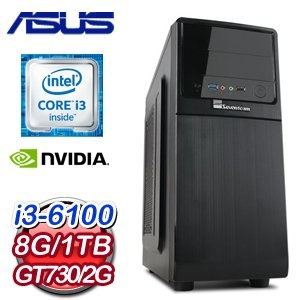 華碩 B150 平台【召喚僧】Intel i3-6100 8G 1TB GT730 高效能獨顯電腦