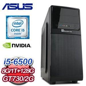 華碩 B150 平台【多樓蘭】Intel i5-6500 8G 1TB 128G SSD GT730 高效能獨顯電腦