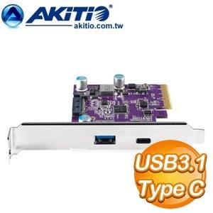 AKiTiO USB3.1 PCIe 卡