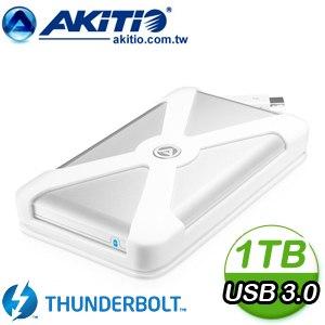 AKiTiO 雷霆行動碟 2.5吋 Thunderbolt/USB3.0 1TB 外接式硬碟