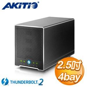 AKiTiO 迷你雷霆戰艦 2.5吋 Thunderbolt2 4bay 外接盒